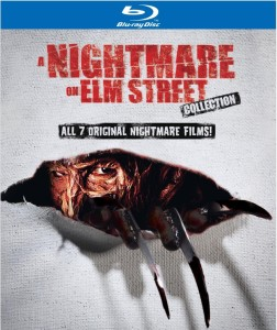 "The Nightmare on Elm Street Collection box set includes all nine original ""Nightmare"" films and is available on blu ray and DVD right here."