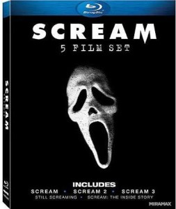 This five-film Scream collection includes the first three films and two documentaries. It's available here on DVD and blu ray.